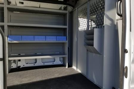 2018 Ford Transit equipped with Kargomaster shelving